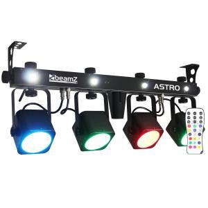 LED ASTRO PARBAR 4 Wege Kit COB LED 4 x 10W DMX inkl. Fußschalter