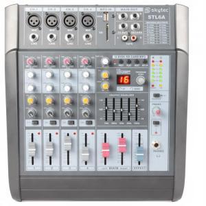 STL6A aktives 6-Kanal-Mischpult 600W Verstärker USB SD MP3 EQ FX +48V
