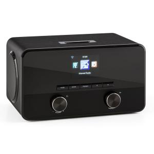 Connect 100 Internetradio Mediaplayer Bluetooth WLAN USB AUX Line Out Schwarz