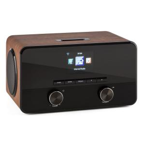 Connect 100 Internetradio Mediaplayer Bluetooth WLAN USB AUX Line Out Walnuss