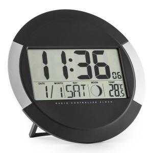 Clockwork Digital-Funk-Wanduhr Thermometer Kalender Mondphase Ständer