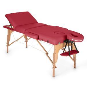 MT 500 Massagetisch 210 cm 200 kg klappbar Feinzellschaum Tasche rot Rot