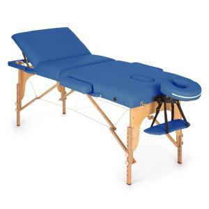 MT 500 Massagetisch 210 cm 200 kg klappbar Feinzellschaum Tasche blau Blau