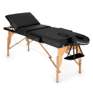 MT 500 Massagetisch 210 cm 200 kg klappbar Feinzellschaum Tasche schwarz Schwarz