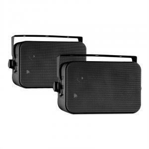 CB105 passive 2-Wege-Lautsprecher 20W max. Paar schwarz inkl. Montagebügel Schwarz