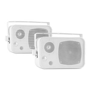 CB105 passives 2-Wege-Lautsprecher 20W max. Paar weiß inkl. Montagebügel Weiß