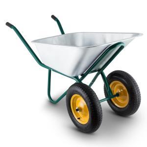 Heavyload Schubkarre 120l 320kg Gartenkarre 2-Rad Stahl grün Grün