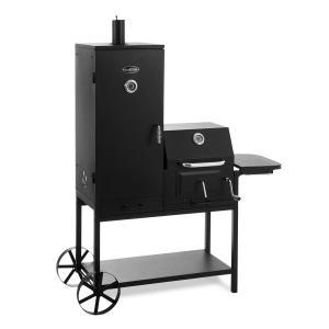 Fleischbrocken Holzkohlegrill Smoker Räucherofen BBQ-Grill schwarz