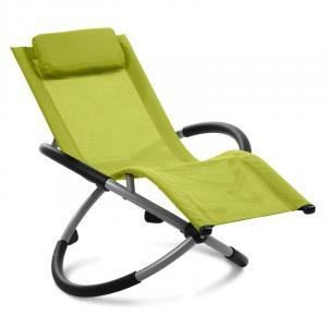 Chilly Willy Kinderschaukelstuhl Liegestuhl Gartenstuhl Textilene grün