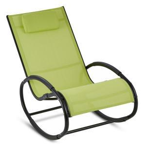 Retiro Schwingsessel Schaukelstuhl Aluminium Polyester grün