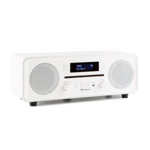 Melodia CD DAB+/UKW Desktop Radio CD-Player Bluetooth Alarm Snooze weiß Weiß