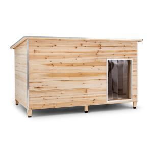 Schloss Wuff Hundehütte Größe L 90x120x90 cm isoliert Windfang Holz