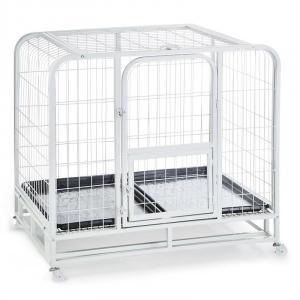 Hundeinternat Hundeerziehungs-Käfig 104x78x102cm PVC-Wanne Metall