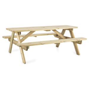 Picknicker 180 Picknicktisch Gartengarnitur Tisch Bank 32mm FSC-Kiefer