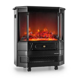 Castillo Elektrischer Kamin Halogen-Flammensimulation schwarz