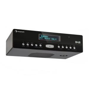 KR-100 DAB Küchen-Unterbauradio DAB+ FM Bluetooth Freisprechfunktion Schwarz