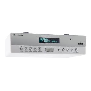 KR-100 DAB Küchen-Unterbauradio DAB+ FM Bluetooth Freisprechfunktion weiß Weiß