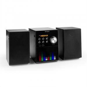MC-200 LED Micro-Stereoanlage Bluetooth CD USB MP3 UKW AUX LED-Panel