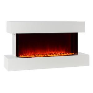 Studio-2 Elektrischer Kamin LED-Flammensimulation 1000/2000W 40m² weiß