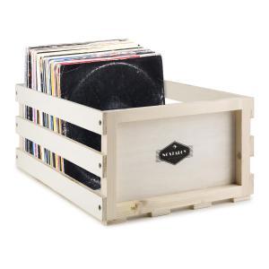 TTS6 Vinylbox Plattenkoffer Leder Nostalgie 30 LPs creme