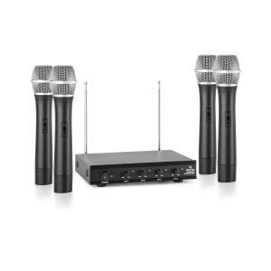 VHF-4-H 4-Kanal-VHF-Funkmikrofon Set 4xHandmikrofon 100m
