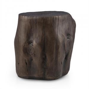 Blockhouse Chair Baumstumpfsitz Gartenhocker 45x44x36cm Holzoptik