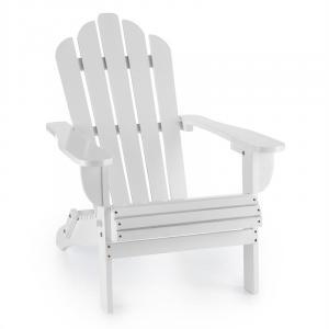 Vermont Gartenstuhl Adirondack-Stil Tannenholz 73x88x94 klappbar weiß