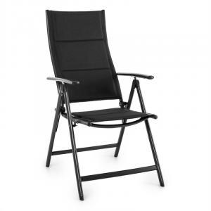 Stylo Royal Black Gartenstuhl Klappstuhl Aluminium schwarz