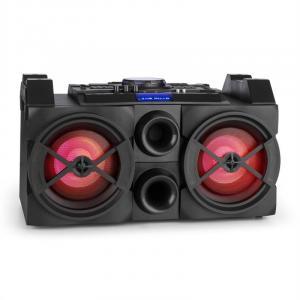 SPLBOX300-Port mobile DJ-Box 300W Bluetooth USB UKW LED Mixer