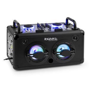 Dance Party portables DJ-Audiosystem 200W Mixer Bluetooth USB MP3 AUX LED