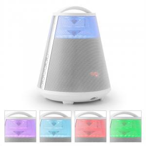 FREESOUND65 Bluetooth-Lautsprecher Akku 360° Sound LED AUX USB SD UKW weiß Weiß