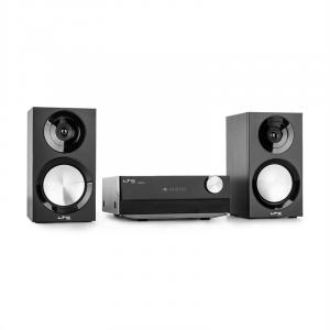 CDM90-BL Micro-HiFi-Stereoanlage 40W Bluetooth USB CD UKW/MW schwarz