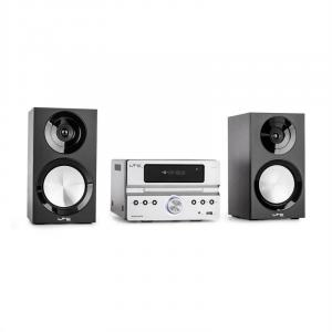CDM90-SI Micro-HiFi-Stereoanlage 40W Bluetooth USB CD UKW/MW silber