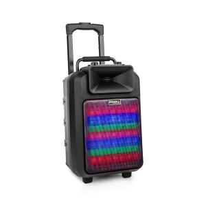 POWER8LED-MKII mobiler PA-Lautsprecher 120W Bluetooth USB/SD UKW Akku