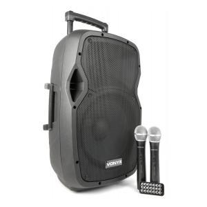 """AP1200PA mobile PA-Anlage 30 cm (12"""") Bluetooth USB SD MP3 VHF Akku"""