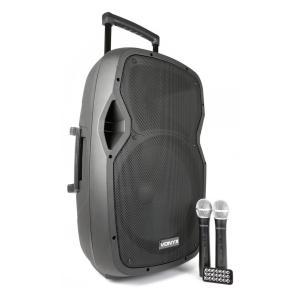 """AP1500PA mobile PA-Anlage 38 cm (15"""") Bluetooth USB SD MP3 VHF Akku"""