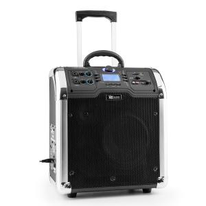 PA-203 Mobile PA Anlage portables Soundsystem Bluetooth USB SD MP3 2xAUX UKW Akku