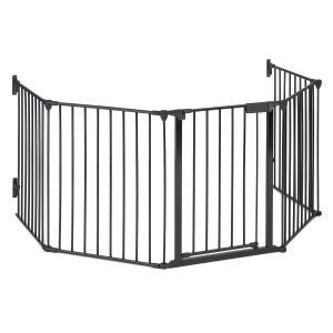 Safety-First Kaminschutzgitter Absperrgitter 3m Metall schwarz