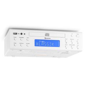 KRCD-150 Küchen-Unterbauradio CD USB AUX UKW RDS Alarm Fernbedienung weiß Weiß