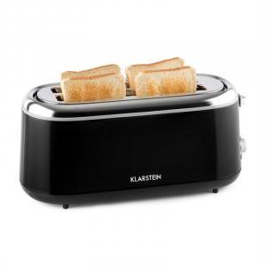 Elox Langschlitz-Toaster Retro 1300 W 7 Bräunegrade schwarz
