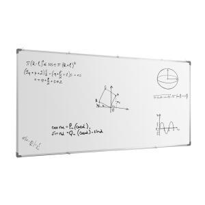 Whitus 240 Whiteboard 240x120 cm magnetische Wandtafel LDF Alurahmen