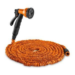 Water Wizard 30 flexibler Gartenschlauch 8 Funktionen 30 m orange