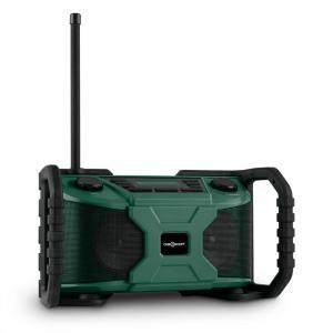 Worksite Baustellen-Lautsprecher Outdoor-Lautsprecher DAB+ UKW Bluetooth USB batterie grün Grün