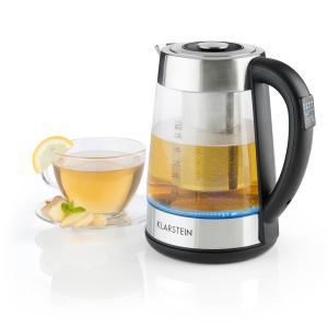Ostfriese Wasserkocher 2-in-1 Teekocher 1,7L 2200W LED Edelstahl Glas