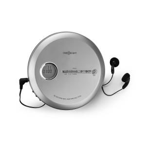 CDC 100 MP3 Discman CD-Player tragbar Antishock ESP Micro-USB silber