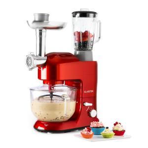 Lucia Rossa 2G Küchenmaschine Mixer Fleischwolf 1200W BPA-frei Rot
