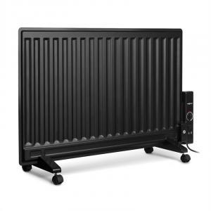 Wallander Ölradiator 800W Thermostat Ölheizung ultraflach schwarz