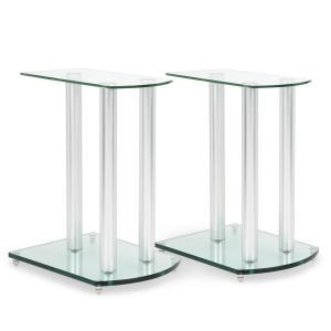 LS-46 Lautsprecherständer-Paar Glas Aluminium <10kg belastbar
