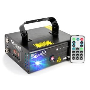 Anthe II Doppelstrahl-Laser 9 W RGB 12-Gobos 7-DMX Master/Slave