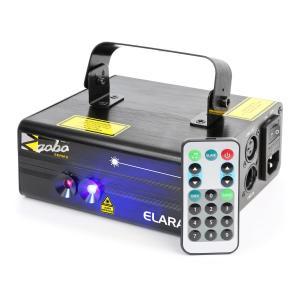 Elara Doppelstrahl-Laser 18 W RB 12-Gobo 6-DMX IR-Fernbedienung
